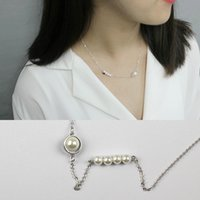 Wholesale Korean Freshwater Pearl Silver - Korean Version Of High-end 925 Sterling Silver Pearl Beads Natural Freshwater Pearl Necklace Fashion Clavicle Chain Jewelry