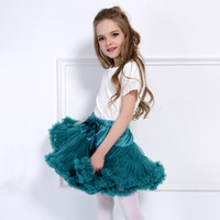 Wholesale Kids Ballet Dress Pink - Candy Colors Princess Baby Girls Tutu Skirts Fluffy Kids Ballet Skirt Tulle Pettiskirt Mini Dress Party Ballet Dance Skirt MC1197