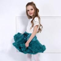 kabarık parti elbisesi toptan satış-Şeker Renkler Prenses Bebek Kız Tutu Etekler Kabarık Çocuk Bale Etek Tül Pettiskirt Mini Elbise Parti Bale Dans Etek MC1197