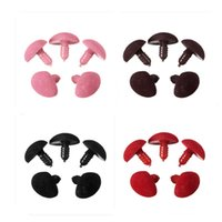 Wholesale Triangle Doll Toys - 5Pcs Bag 15MM*20MM Plastic Safety Triangle Velvet Noses Buttons DIY Bear Toy Doll Accessories Wholesale Price