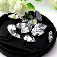 10pcs / lot 10x14mm Pear Cut AAA Loose Zircon Pointback Rhinestones Artificial Gemstone Decoração Multicolors Atacado