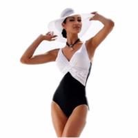 un costume spandex noir achat en gros de-Maillot de bain une pièce Bikini Brésilien Ensemble Sexy Tankini Ensemble Beachwear Plus La Taille Patchwork Maillots De Bain Femmes Noir Maillot De Bain XXXL XXXXL
