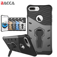 Wholesale white hard stand case cover - Sniper Case for iPhone Cover Silicon Shockproof Hard Back Case for iPhone Plus with Stand Hybrid Case for iPhone