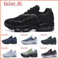 Wholesale New Style Shoes For Mens - 2017 New style Air Sports 95 Running Shoes For Men Cheap Black White Mens Trainers Sneakers Fashion Man athletic Walking training shoes