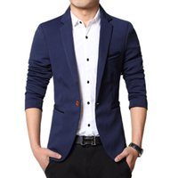 Wholesale Men Blazer Jacket Cheap - Wholesale- Super cheap ! 2016 new arrival Men's Casual Slim Stylish fit One Button Suit Blazer Coat Jackets
