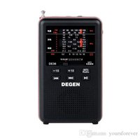 Wholesale Brand New DEGEN DE36 FM Stereo FM1 MW SW1 Full band World Receiver MP3 Player Radio Black Y4238A