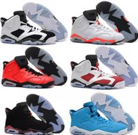Wholesale cheap sneakers online online - air cheap basketball shoes Olympic red black Infrared Carmine Sneakers Sport Shoe For Online Sale size