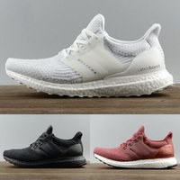 Wholesale Womens Massage Shoes - 2017 Ultra Boost 3.0 Triple Black Running Shoes Women Ultraboost 3 Primeknit Runs men Shoes White Casual Ultrals Boosts mes womens Sneakers