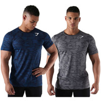 Wholesale Scoop Neck Tshirt - 2017 Men's Tops Tees summer new cotton o neck short sleeve t shirt men fashion trends T-shirts gyms fitness tight tshirt