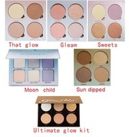 Wholesale Sun Glow Wholesale - NEW brand makeup GLOW KIT GLEAM THAT GLOW SUN DIPPED Faced Powder contour kit maquiagem Bronzer & Highlighter cosmertic