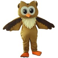 Wholesale owl dress blue - 2016 Hot Sale night owl mascot costume fancy dress Interesting clothing Animated characters for part and Holiday celebrations
