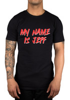 Wholesale Sleeve Ideas - 2017 Summer T Shirt My Name Is JEFF T-Shirt Funny Vine Parody Inspired Joke Gift Idea Top Tee