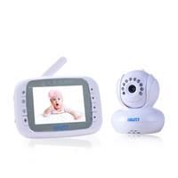 caméra à distance ptz achat en gros de-Gros-Wireless 3.5 pouces TFT LCD Moniteur Moniteur vidéo pour bébé avec caméra Baby Lullaby Télécommande PTZ Digital Video Camera Nanny Cam