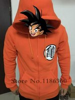 Anime Dragon Ball Z Felpe con cappuccio Uomo Zip Up Cartoon Felpa con cappuccio Cosplay Master Roshi Re Kai Stampato Felpe con cappuccio Dragon Ball