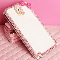 Wholesale Transparent Mini Phone - Luxury Hard PC Case For Samsung Galaxy Note 3 N9000 Note 4 N9100 S5 i9500 S5 Mini G800 Case Flower Bling Diamond Chic Clear Back Phone Coque
