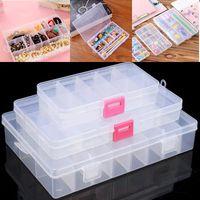 Wholesale Storage Box 15 - 10 15 24 Compartments Jewelry Box Adjustable Jewelry Organizer Plastic Storage Container Box DIY Home Room Tools