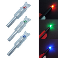 Wholesale Hunt Crossbow - 3 Colors High-visibility LED Lighted Nocks for Crossbow Shaft ID 7.6mm