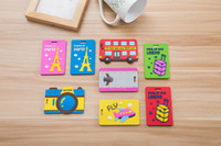 Wholesale Soft Rubber Luggage Tags - 2017 New Cute Cartoon Luggage Tag PVC Soft Silicone Rubber Luggage Label Luggage Accessories Black Men and Women General Gift