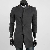 Wholesale Trench Coat Models Men - Wholesale- 2016 autumn winter new Explosion models early autumn new products long sleeve trench coat personality Cheap wholesale