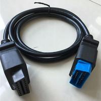 Wholesale honda connector pins - 2017 PROMOTION best choice OBD2 Cable interface diagnostic cable Extension OBD II OBD2 16 pin Connector 16pin to 16pin