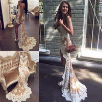 Sexy Style High Low Prom Dresses Sweetheart Handmade Appliques Lace Short Front Long Back Back Girls Party Gowns Sweep Train Custom Size