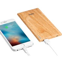 Wholesale Huawei Slim Charger - Hoco B10 7000mAh Flat Grain Power Bank External Slim Battery Charger For Smartphone ZTE HUAWEI MP3 With Retail Package