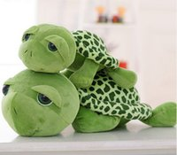 Wholesale Cute Apartments - Wholesale- NEW 20cm Love Apartment lovely Big Eyes Small Turtle Tortoise Cute Doll Plush Toys Girls Gifts Baby Toy Free Shipping