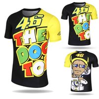 Wholesale Motor T Shirts - Valentino Rossi VR46 46 Motocross Jerseys bike Cycling Racing Motorcycle Bicycle Motor QUICK-DRY Short Sleeve T-shirt