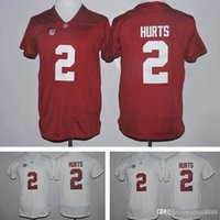 Wholesale Kids Uniform Logos - Kids Youth Alabama Crimson Tide #2 Jalen Hurts 3 Ridley America College Football Red White Jersey Embroidery Logos Stitched Jerseys Uniforms
