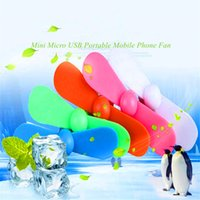 Portable Mini Micro USB Fan Flexível Fans de telefone móvel Colorful Super Mute Cooler para Samsung Android Computer Power Bank.