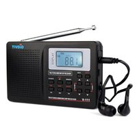 Wholesale World Time Alarm Clock - Wholesale-2 pcs Full Band Radio FM Stereo MW  SW DSP TV Sound World Band Receiver with Timing Alarm Clock Portable Radio F9201