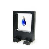ingrosso miniature-2pcs all'ingrosso display multifunzionale di gioielli in miniatura orecchino anello collana espositore chiaro accessori scatola di visualizzazione 7 * 9 cm