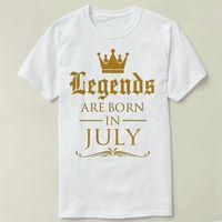 Wholesale Black Gildan Shirt - T Shirt Summer Famous Clothing Gildan Men'S Short Legends Are Born In July Birthday Tee Cotton Summer Crew Neck Best Friend Shirts