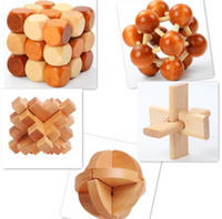 Discount educational wooden toys for kids - 50pcs Funny Chinese Traditional Wooden Educational Toys for Adult Children Intelligence Education Puzzle Lock Kids wood Toys Y065