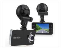 fhd ekranı toptan satış-Ücretsiz kargo K6000 Araba Kamera Araba Video Kaydedici FHD 1920 * 1080 P 25FPS 2.4 inç TFT Ekran G-sensör Registrator Araba DVR ile
