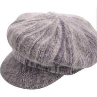 Wholesale- 2016 Fashion Beret winter plus thick velvet beret hat for women  Octagonal Cap newsboy cap womens cabbie wool hats 8889098cdbb7