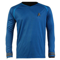 Wholesale Star Trek Uniforms - Kukucos Movie Figure Star Trek Darkness Star Captain Kirk Costume Shirt Uniform Three Colours For Choice