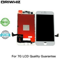 Ordenar Apple Iphone Baratos-ORIWHIZ Grade AAA Quality para iPhone 7 7G LCD Touch Screen Digitizer Assembly Blanco y negro Color Perfect Packing Envío rápido Mix Order