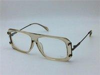 Wholesale Eyeglasses Frame Male - new vintage eyeglass Germany designer CZ633 glasses prescription steampunk style men brand deisnger flap top design brand eyeglasses
