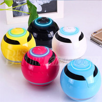 Wholesale Small Gift Cards Wholesale - GS009 The Colorful Round Ball With LIGHT Bluetooth Speaker Outdoor Gift Creative Mini Small Stereo DHL