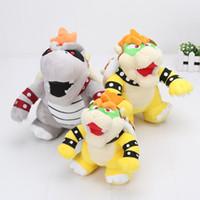 Wholesale Super Mario Bowser Toys - 3styles 17-24cm Super Mario Bros plush 3D Land Bone dragon Morton Koopa bowser Troopa Plush Toy