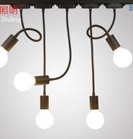 ingrosso lampadine di sfondo della parete principale-Lampada da soffitto a led a binario lungo, lungo, braccio, luce, negozio di abbigliamento
