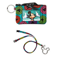 Wholesale Bus Lanyard - VB Cotton Mickey Zip ID Case & Lanyard Card Holder Credit Card Bus Card Case