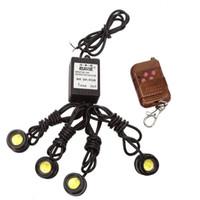 Wholesale Eagle Eyes Lights Remote - 4 in 1 Eagle Eye LED Strobe Light Kit for DRL Backup Tail Light with Remote Control DC12V LED Day Fog Light