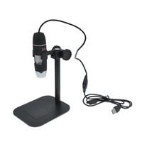 liderliğindeki kamera dijital mikroskop usb toptan satış-Prático Eletrônica 5MP USB 8 LED Dijital Mikroskop Kamera Endoscópio Büyüteç 50X ~ 500X Ampliação Medida