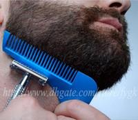 ingrosso taglierina di barba-Bro-beard Barba di barba Barba che modella strumento per uomini Gentleman Trim Maschera di taglio di capelli che modella con l'imballaggio del sacchetto OPP