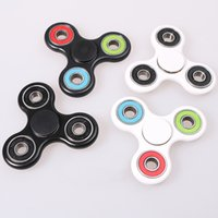 Wholesale Wholesale Ceramic Balls - EDC Hand Spinner Hand Spinners Triangle Tri Fidget Ceramic Ball Desk Focus Toy EDC For Kids Adults Finger Spinning Top