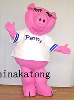Wholesale Lovely Pink Pig Mascot - Lovely Pig Mascot Costume for Halloween Party Costume Cartoon costume suit Outfit
