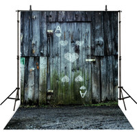 Wholesale Outdoor Props Backdrops - Retro Vintage Grey Wooden Wall Photography Backdrops Vinyl Kids Child Photo Background Outdoor Newborn Baby Booth Props