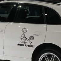 Wholesale Family Stickers Cars - Car decorative Making My Family Auto Decals Cartoon Car Stickers Car Bumper Sticker Body Decal QPW0005